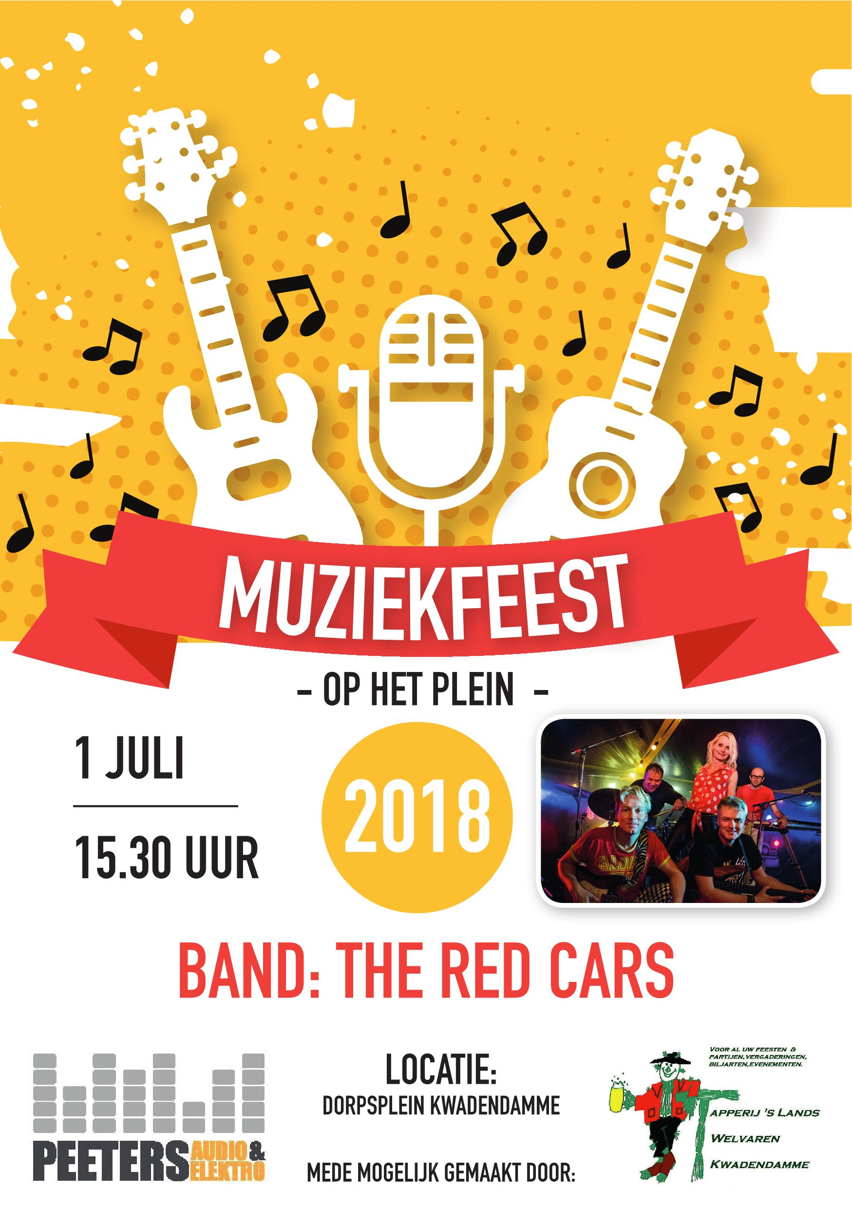 Flyer muziekfeest