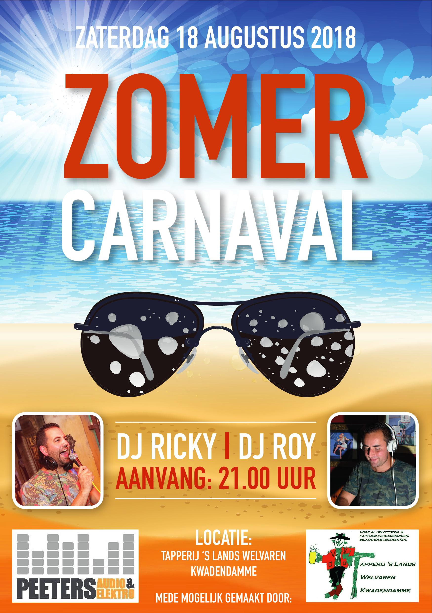 Flyer zomercarnaval